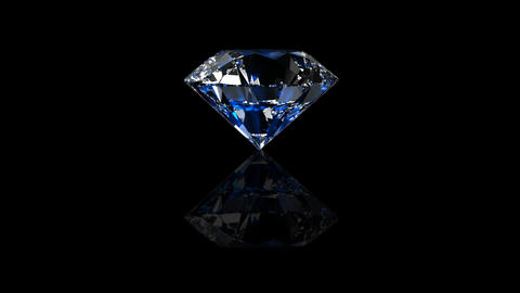 Luxury Jewelry Diamond center blue Animation