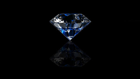 Luxury Jewelry Diamond center blue Stock Video Footage