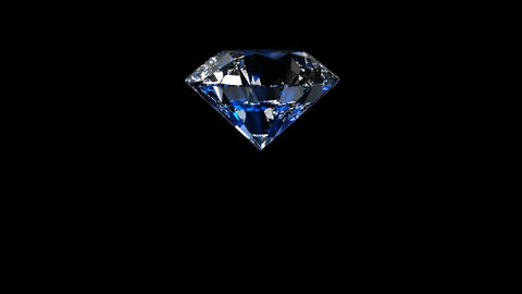 Luxury Jewelry Diamond center blue CG動画素材