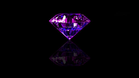 Luxury Jewelry Diamond center purple Stock Video Footage