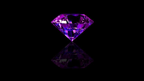 Luxury Jewelry Diamond center purple Animation