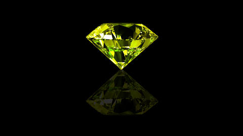 Luxury Jewelry Diamond center yellow Stock Video Footage