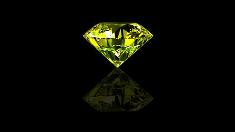 Luxury Jewelry Diamond center yellow Stock Video Footage