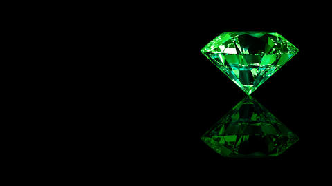 Luxury Jewelry Diamond side green Animation