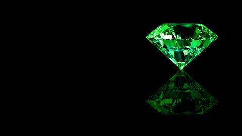 Luxury Jewelry Diamond side green Animation