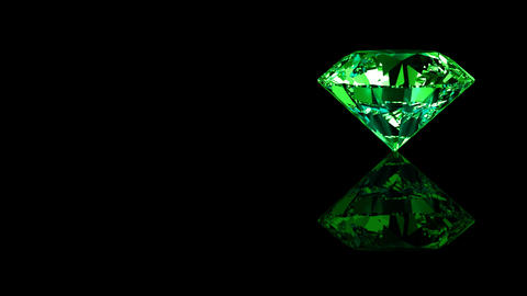Luxury Jewelry Diamond side green Stock Video Footage