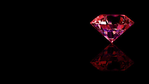 Luxury Jewelry Diamond side red Animation