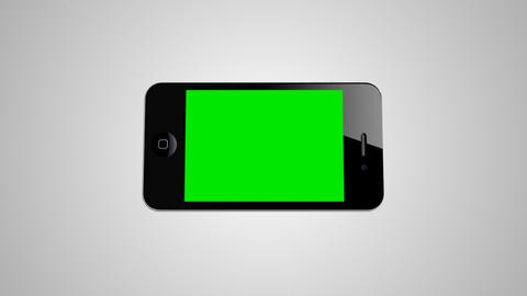 Green screen Smartphone 4G IPhone Advertisement... Stock Video Footage