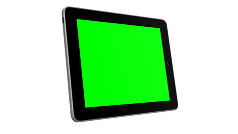 3D Ipad 2 Presentation Tablet computer Touch screen Green... Stock Video Footage