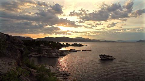 Dawn on the coast Stock Video Footage
