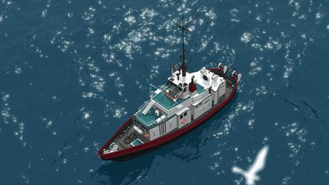 Fishing schooner Stock Video Footage