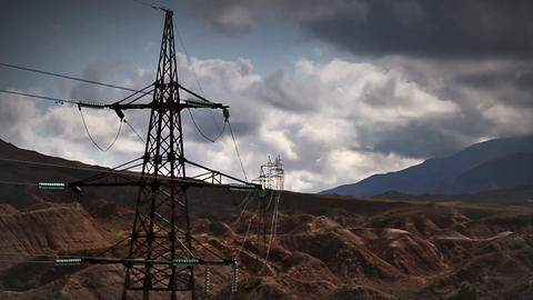 Electric transmission line Stock Video Footage