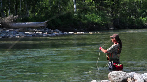 Fly fishing 2 Stock Video Footage
