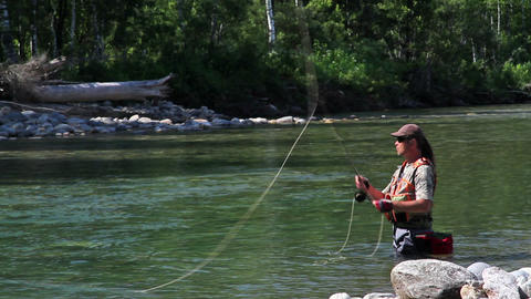 Fly fishing 2 Footage