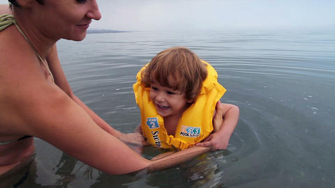 First swimming lesson Footage