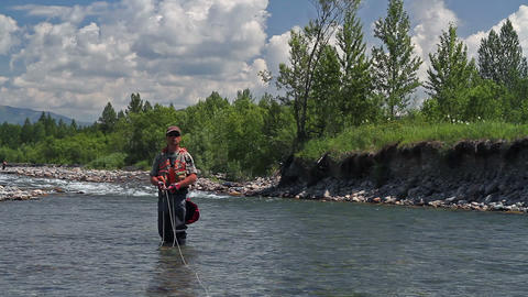 Fly fishing 4 Stock Video Footage