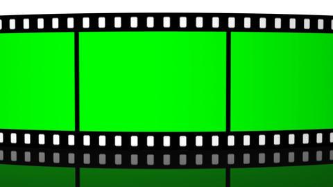 green screen Film roll strip filmstrip reel cinema... Stock Video Footage