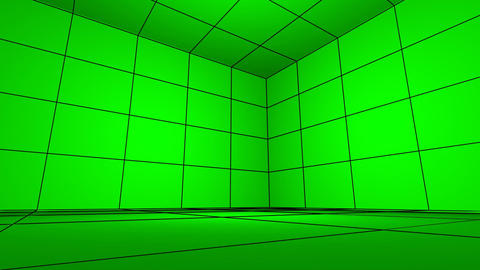 Green Screen spin FX room hi-tech projection commerce... Stock Video Footage