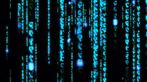 Matrix Coding digital data binary Numbers hacker... Stock Video Footage