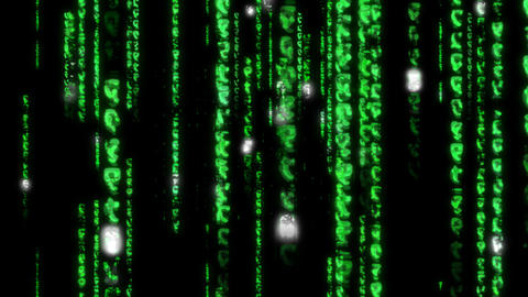 Matrix Coding digital data binary Numbers hacker... Stock Video Footage