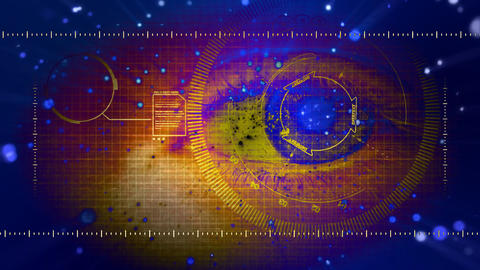 female women girl Security Biometric Eye Scan Stock Video Footage