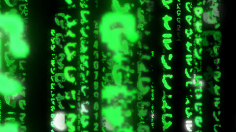 Matrix Coding digital data binary Numbers hacker technology Glowing Animation