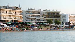 Crowded Resort At Seaside Footage