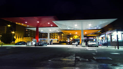 Gas Station Time lapse 4K Footage