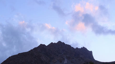 Night is coming. Pamir, Tazhikistan. TimeLapse Footage