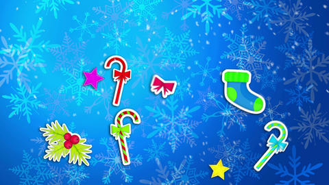Christmas Ornament Blue Background Loop Animation  Animation
