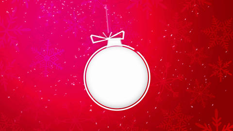 Paper Art 2015 Ornament Decorative Red Background Stock Video Footage