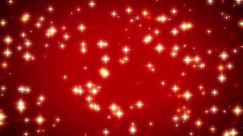 Warm Sparkling Red Stars Vignette Background 3 Animation