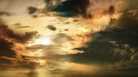 Orange Clouds Footage