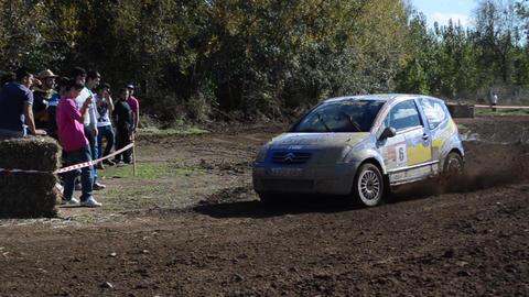 Rally Car Championship stock footage