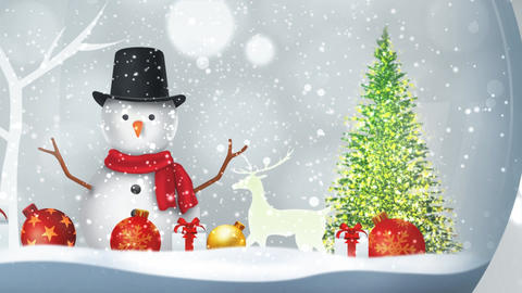 Christmas Snow Ball After Effects Template