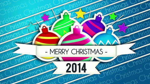 Baubles Bounce Christmas Greeting 2014 - 4K Resolu Animation