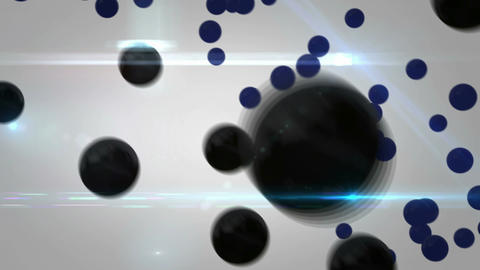 Black Balls 3D Rotation Abstract Loop Animation -  Animation