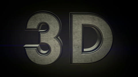 3D Steel Text Motion Graphic Animation - 4K Resolu Animation
