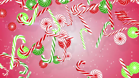 christmas candy canes loopable background Animation