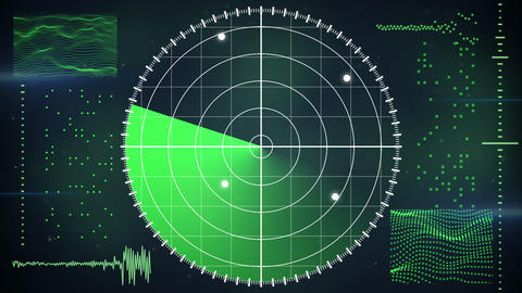 radar screen loopable technology background Animation