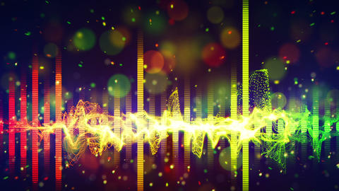 rainbow equalizer loopable paty background Animation