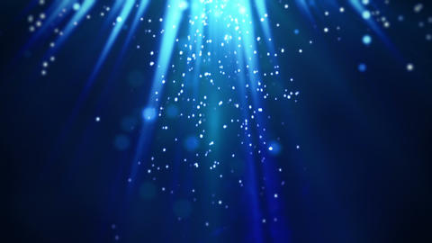 magic blue light rays and particles loop Animation