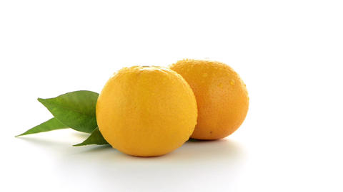 Ripe tangerine or mandarin Live Action
