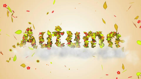 Autumn leaves particles 3D Loop Animation - 4K Res Animación
