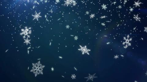 Snow Shape Loop Blue background - 4K Resolution Ul Animation