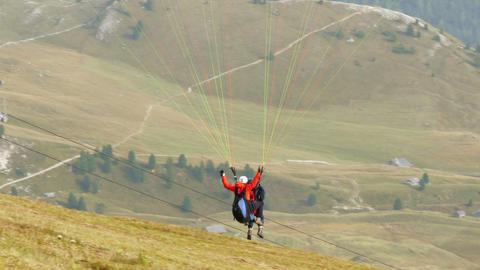 Paraglider Start In Dolomite Alps 02 11540 stock footage