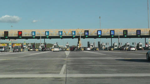 Highway Tolls stock footage