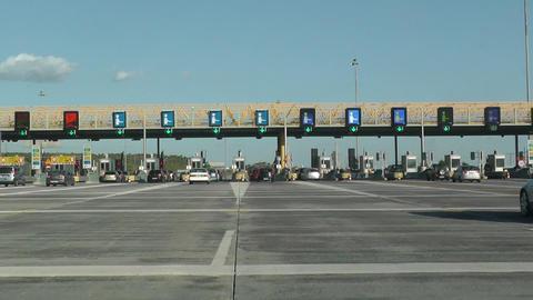 Highway Tolls stock footage