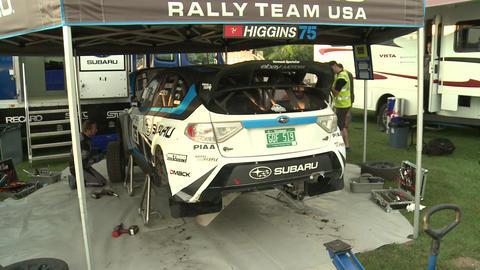 David Higgins Subaru Rally Car Live Action