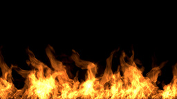 Flame On Black Background stock footage